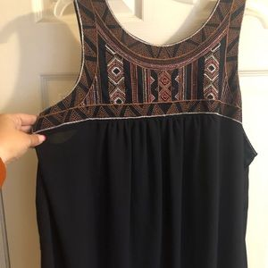 Tank with small beaded detail
